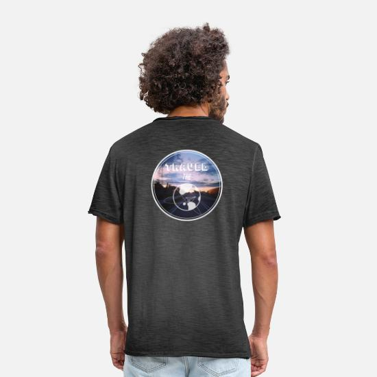 Travel T-Shirts - Travel the World - Männer Vintage T-Shirt Vintage Schwarz