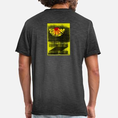 Down With Detroit DOWN WITH ME YELLOW - Männer Vintage T-Shirt