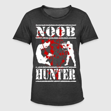 The gaming and paintball shirt Noob hunter - Men's Vintage T-Shirt