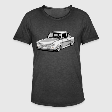 Two-stroke DDR Trabant 601 racing cardboard - Men's Vintage T-Shirt