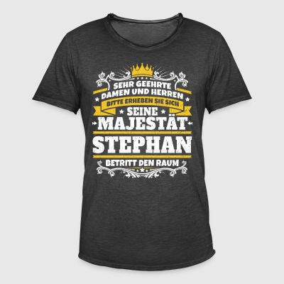 His Majesty Stephan - Herre vintage T-shirt