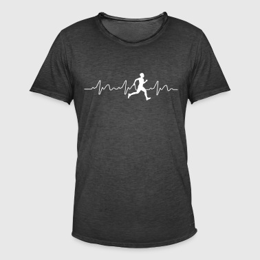 Heartbeat jogging - Men's Vintage T-Shirt