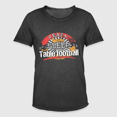 Eat Sleep Foosball - Vintage-T-skjorte for menn