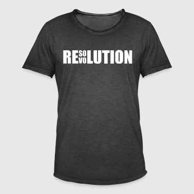 Resolution / Revolution - Men's Vintage T-Shirt