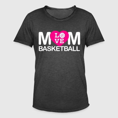 Mom love basketball - Men's Vintage T-Shirt