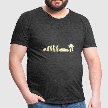 Human evolution Transformers - Men's Vintage T-Shirt