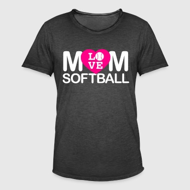 Mamma elsker softball - Vintage-T-skjorte for menn