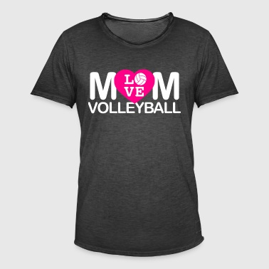 Mom love volleyball - Men's Vintage T-Shirt