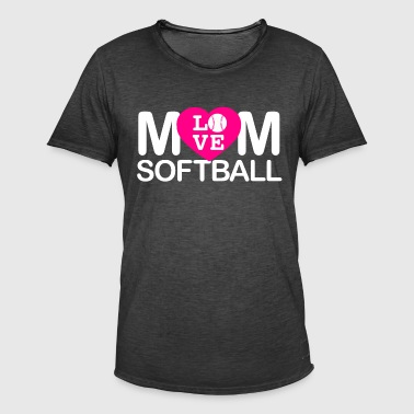 Mom love softball - Men's Vintage T-Shirt