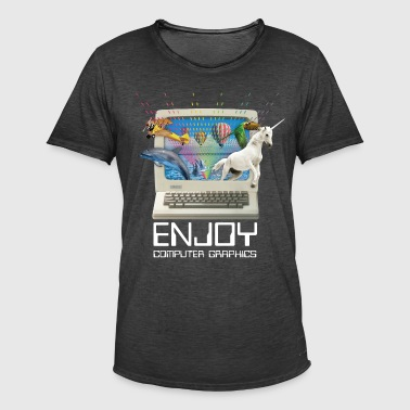 Men's T-Shirt - Enjoy Computer Graphics - 1980s - Men's Vintage T-Shirt