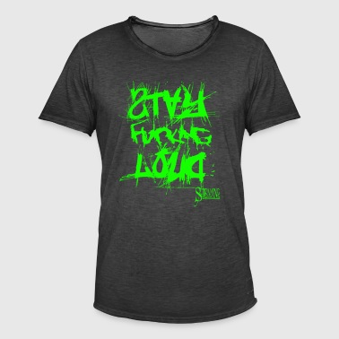 StayFuckingLoud 2 Grøn - Herre vintage T-shirt