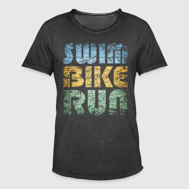 Swim Bike Run - Vintage Edition - Männer Vintage T-Shirt