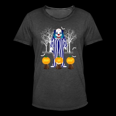 Halloween scary clown - Men's Vintage T-Shirt