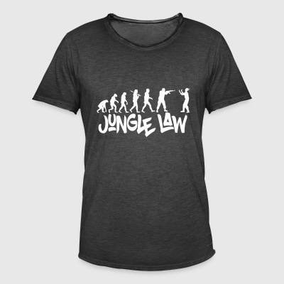 JUNGLE_LAW - Vintage-T-skjorte for menn