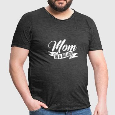 Mother's Day gift moeder mom Mom In A Million - Mannen Vintage T-shirt
