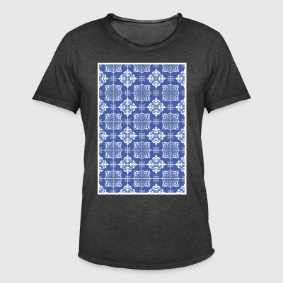 Azulejo pattern - amar o mar - Men's Vintage T-Shirt