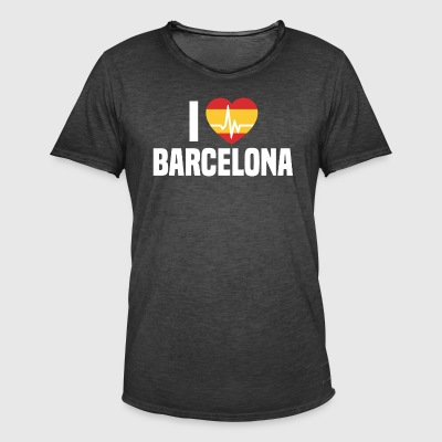 I love Barcelona BCN Spain Barcelona holidays - Men's Vintage T-Shirt