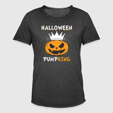 Halloween Pumpking - Vintage-T-shirt herr