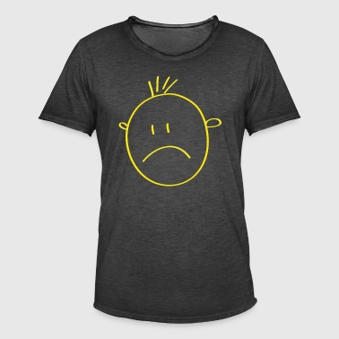 gul Smilie - Vintage-T-skjorte for menn