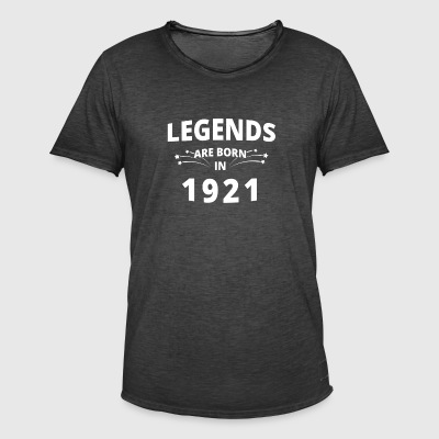 Legends shirt - Legends zijn geboren in 1921 - Mannen Vintage T-shirt