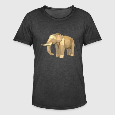 Low poly elephant - Men's Vintage T-Shirt