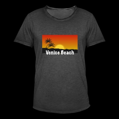 Venice Beach Shirt - Vintage-T-skjorte for menn