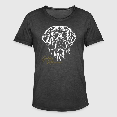 Golden retriever portræt - Herre vintage T-shirt