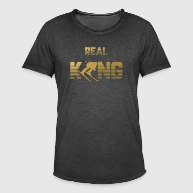 Real King - Skiing Skiing Skiing Skiing - Men's Vintage T-Shirt