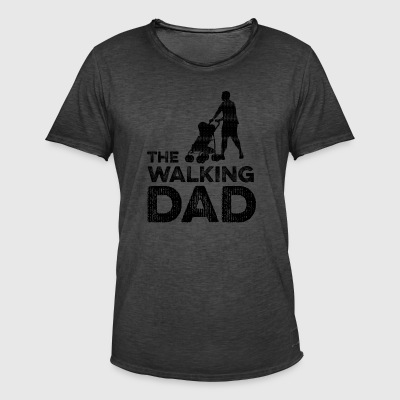 The Walking Dad - Mannen Vintage T-shirt
