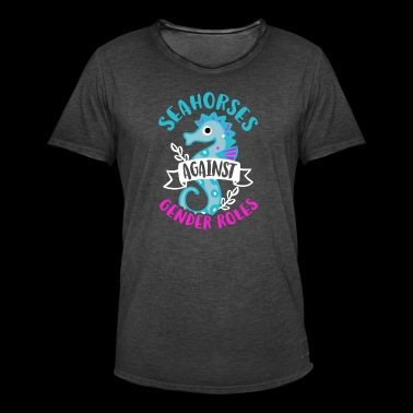 Seahorses against Gender Roles - Men's Vintage T-Shirt