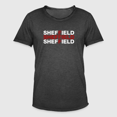 Sheffield United Kingdom Flag Shirt - Sheffield - Männer Vintage T-Shirt