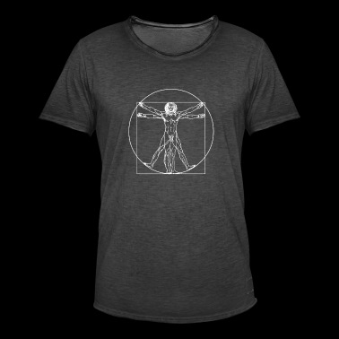 Vitruvian Man - Men's Vintage T-Shirt