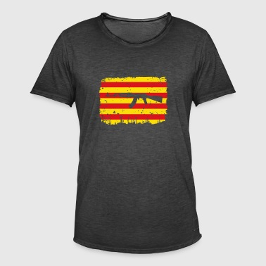 homeland fight ak 47 homeland roots estelada catalan - Men's Vintage T-Shirt