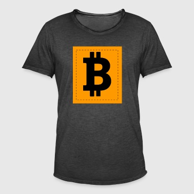 Bitcoin Icon - Mannen Vintage T-shirt