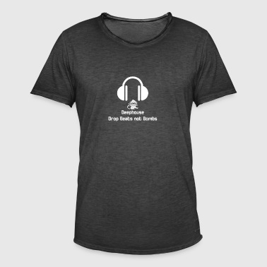 Deephouse Ninja Drop Beats not Bombs - Männer Vintage T-Shirt