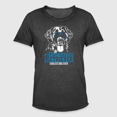 Flatcoated Retriever coolaste hund - Vintage-T-shirt herr
