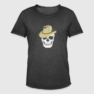 Skull with Straw Hat Gift Beerfest Malle - Men's Vintage T-Shirt