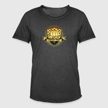 Contact Fight Gold - Mannen Vintage T-shirt
