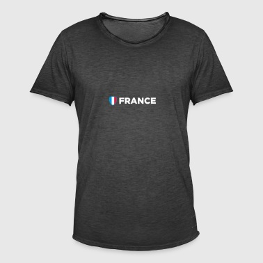 National Flag Of France - Herre vintage T-shirt