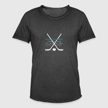 Hockey: Goaltender - The Brave player Willing - Men's Vintage T-Shirt