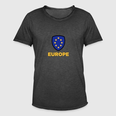 Unionens flag for Europa - Herre vintage T-shirt