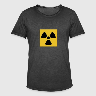 Radiation warning - Männer Vintage T-Shirt