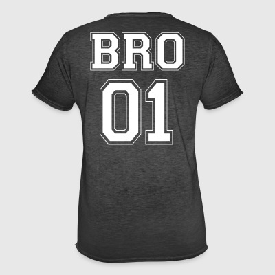 BRO 01 - White Edition - Men's Vintage T-Shirt