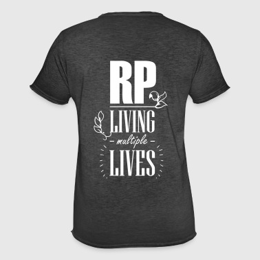 Role play - Living multiple lives - Men's Vintage T-Shirt