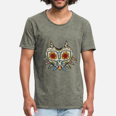 Gaming majoras mask - Vintage-T-skjorte for menn