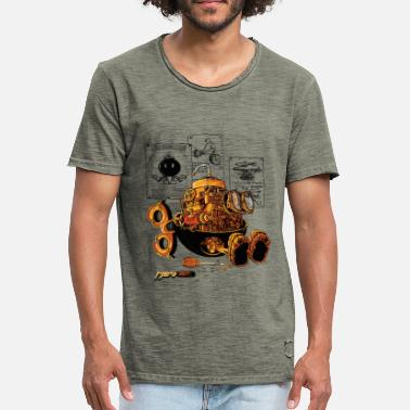Steampunk work of the genius  - T-shirt vintage Homme