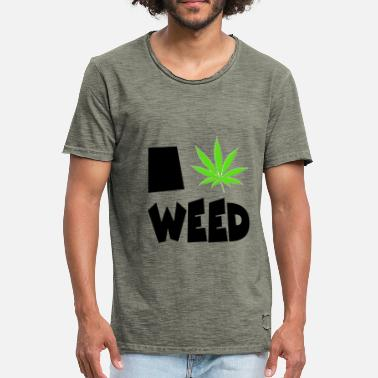 We Are Boston I love weed - Men's Vintage T-Shirt
