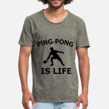 Table Tennis Ping Pong Table Tennis PingPong Game - Men's Vintage T-Shirt