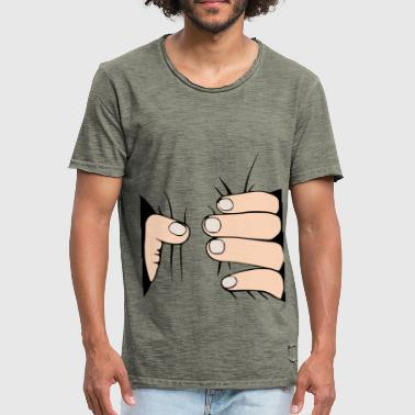 Crushing hand - hand crushes you - Men's Vintage T-Shirt