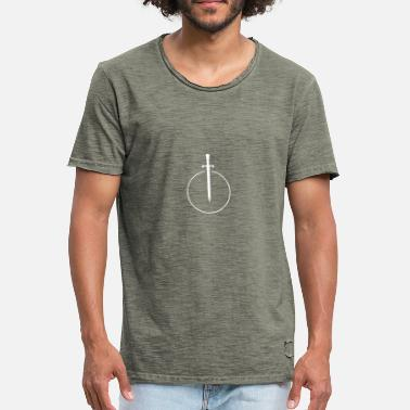 Sword Belt Sword in circle - Men's Vintage T-Shirt